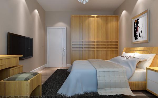 【成都实创装饰】120平米三居 现代简约风格 装修参考—整体家装—卧室装修效果图