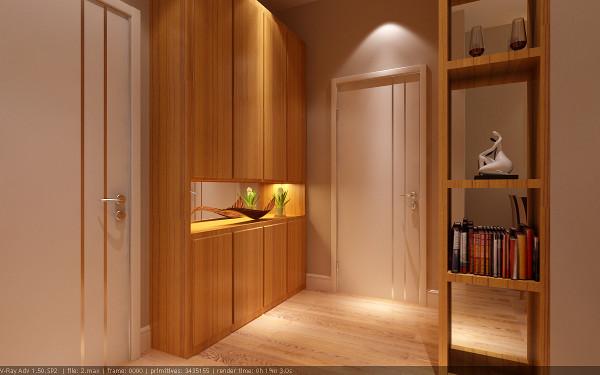【成都实创装饰】120平米三居 现代简约风格 装修参考—整体家装—玄关装修效果图