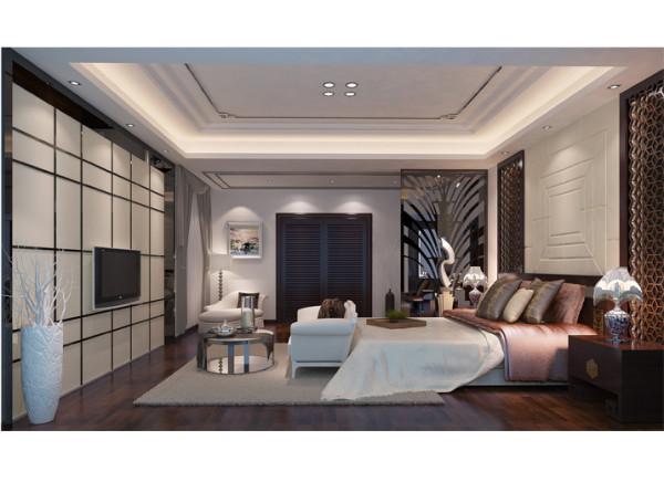 """在需要隔绝视线的地方,使用中式的屏风或窗棂、中式木门、工艺隔断、简约化的中式""""博古架"""",通过这种新的分隔方式,单元式住宅就展现出中式家居的层次之美。"""