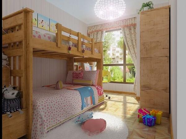 儿童房采用木制的床 很接近自然