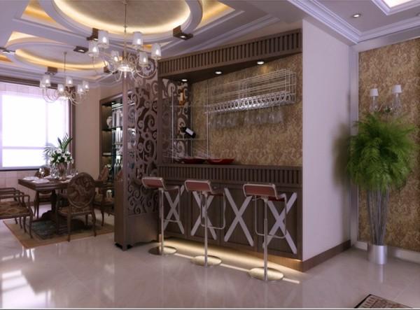 中海嶺湖墅-142平米-欧式古典-吧台装修效果图