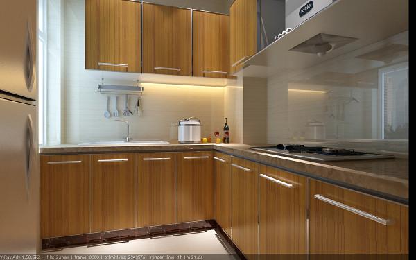 【成都实创装饰】120平米三居 现代简约风格 装修参考—整体家装—厨房装修效果图
