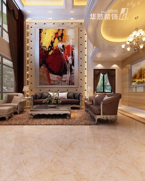 棠溪人家-客厅装修效果-华然装饰