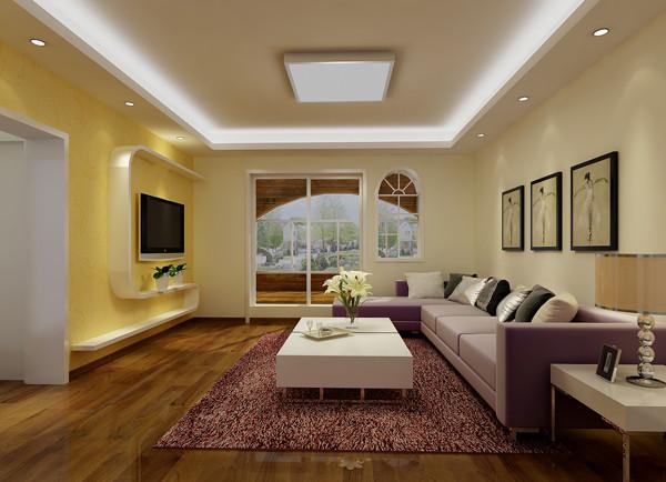 天通东苑小区复式结构170平米现代简约风格老房重装设计案例——二层客厅