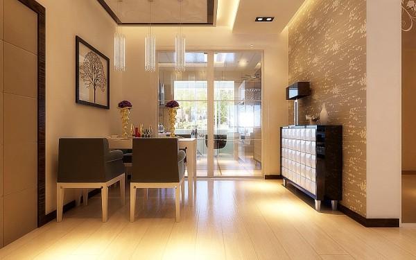鲁能领秀城128平三室两厅现代风格装修效果图-济南实创装饰