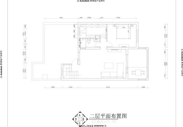 天通东苑小区复式结构170平米现代简约风格老房重装设计案例——一层平面布置图
