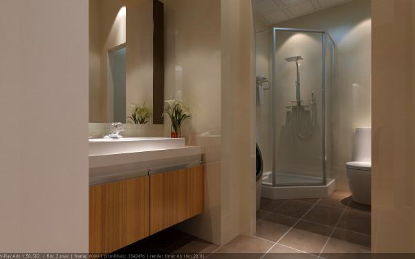 【成都实创装饰】120平米三居 现代简约风格 装修参考—整体家装—卫生间装修效果图