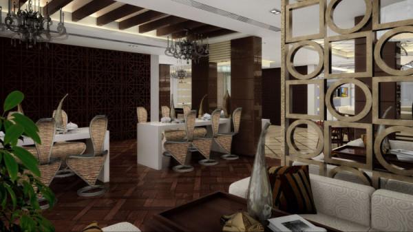 本套家居_装修效果图_这是一套结构改造后面积为1100平米的独栋别墅。