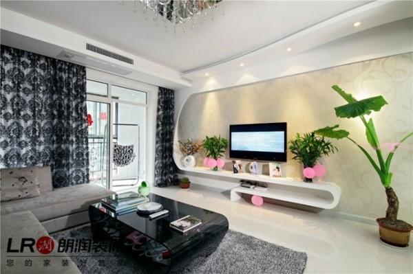 客厅电视墙简约造型,独特完美,时尚前沿的体现让人眼前一亮的完美感官。