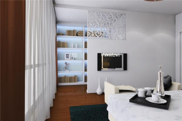 以此为装饰主题,而二层格局做些改动,为了强调空间的合理运用,拆掉书房与卧室相邻的轻体墙,使空间更加流畅。营造出一个前卫不乏温馨,简洁但不乏底蕴的年轻空间。