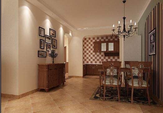 用朴实的橱柜搭配地中海的拱形门,混搭的厨房更具时尚的诱惑力。拱形门洞正好打通餐厨空间,独特的弧形餐桌椅也让人眼前一亮。整个用餐环境都让人仿佛置身异国假区,尽情享受惬意的生活。