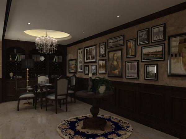 这张设计图片是主人的一个休息室的设计效果图。
