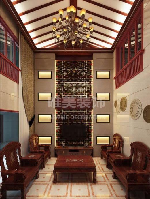 客厅:业主选用了风格简约且显档次的中式家具,其最大的特点就是风格凸显中式,高贵大气,是不错的居家选择。