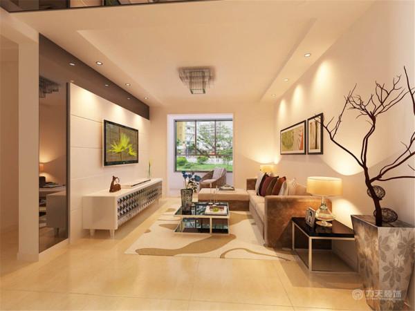 电视背景墙为黑色镜面衬底,白色拉缝石膏板为面的经典