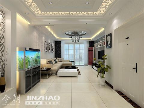 客厅:纵观客厅到走廊通透性与舒适性完美的结合,一种时尚、年轻、清爽、干净的气息蓬勃散发。