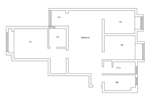 怡丰新都汇三室两厅户型图—平面图