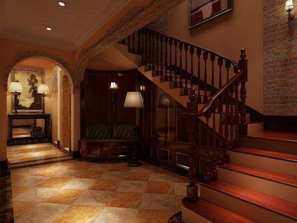 龙湖好望山 573平米 美式风格 尚层装饰   楼梯设计