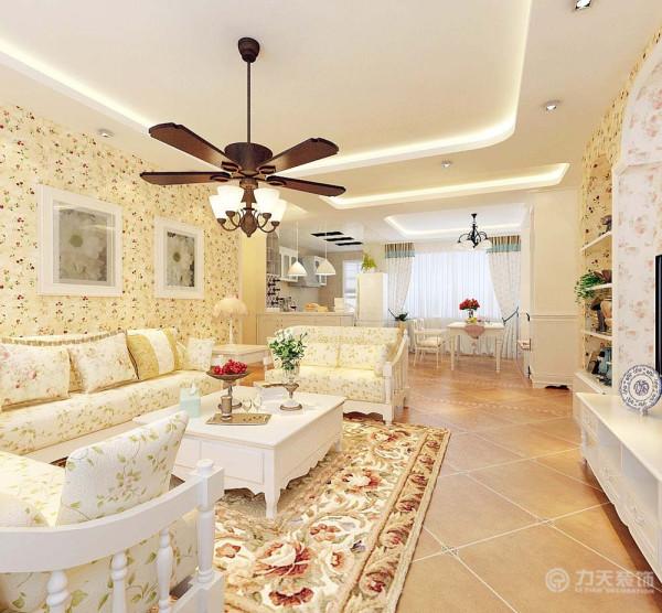 户型的装修风格定义为田园风格,田园风格整体色彩清新,家具偏欧式整体以小碎花为主