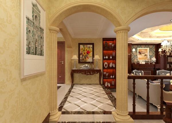 楼梯图片来自业之峰装饰公司邦邦在江南新城欧式风格别墅装修效果图的