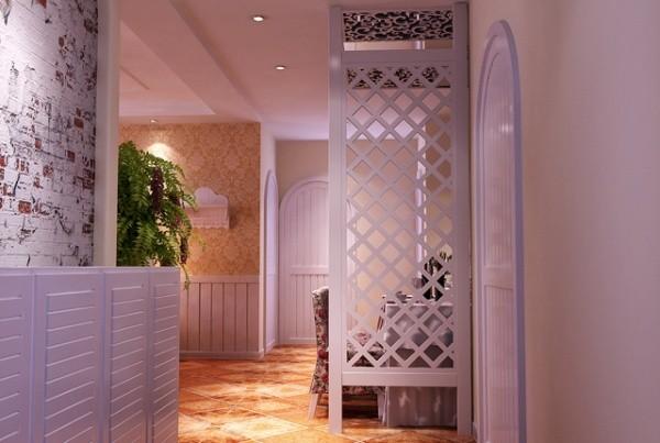 以小碎花为主。暖色基调,使得空间达到客户的满意度!让餐厅区域有个扩展,所以用隔断来弥补缺失。让空间整体性更强。其他主题按照田园风格规划设计。
