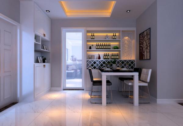 餐厅设计,酒柜,鞋柜,储物柜,充分利用户型格局.
