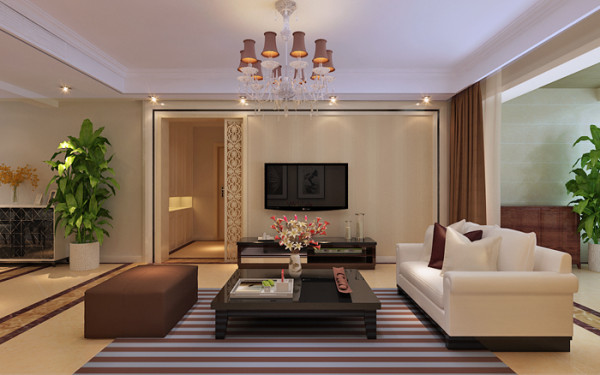 石家庄业之峰装饰-阿尔卡迪亚现代简约112平米三居室装修效果图