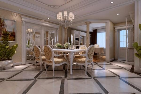 既有西式元素,又具有强烈的时代感元素。例如天花吊灯微妙的效果,搭配上欧式家具,挂画,饰品等完美组合,形成极具品位的装饰效果,将奢华的欧式风情演绎的淋漓尽致。