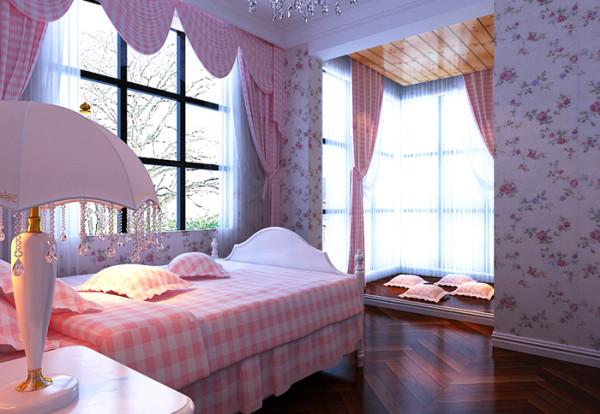 女儿房设计,颜色新鲜,明亮,温馨。