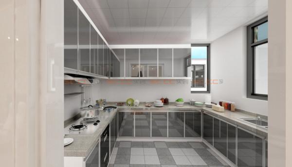 银灰色厨房