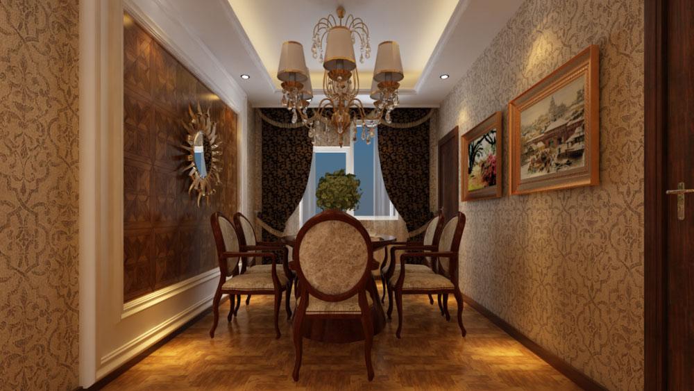 电视沙发背景墙采用白色欧式护墙板饰面加门头体现出富贵的象征将美式图片