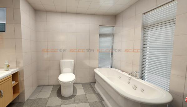 卫生间,好大的浴缸啊^
