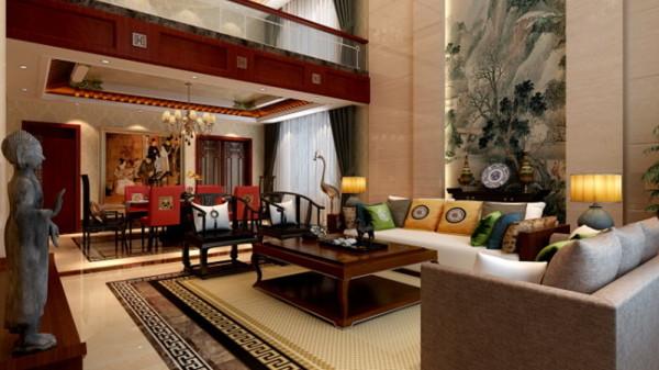 后期的软装配 饰更多的采用书法、挂画、瓷器陈设等东方色彩和元素来提升整体 家居氛围。