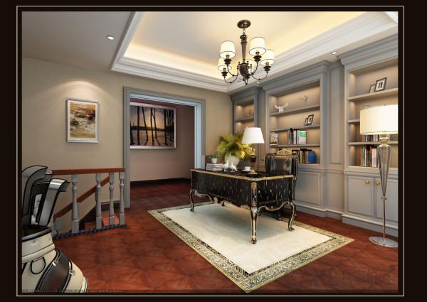 书房以黑白灰为主色调呈现高档舒适但又不失稳重,加上黑色书桌高贵而典雅,时尚却不张扬,简约却不简单。明亮的空间,书房变得充满阳光、安静、舒适。