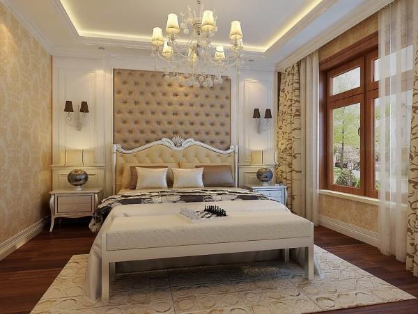 保利香槟国际-132平米-简约风格-卧室装修效果图