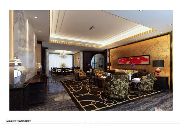 中式奢华装修风格-客厅实景图-样板房图片