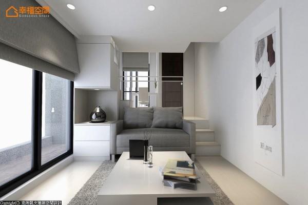 绝佳尺度的大面开窗,将纯透采光与空气对流顺势引入,制定出友善居住的循环系统。 (此为3D合成示意图)
