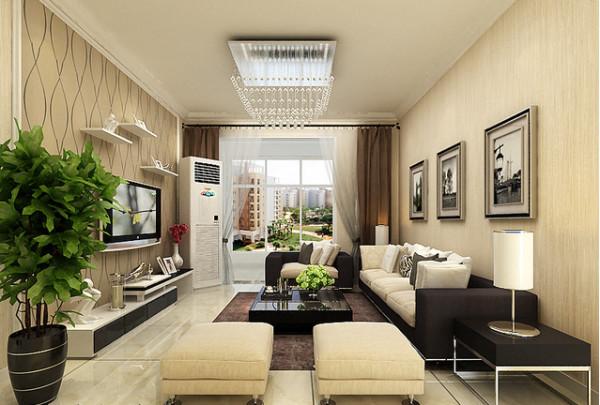 客厅墙面采用壁纸,造型架,给客人一种干净,舒适感觉。小编提醒,刚装修好的房子,多放些植物,净化空气。