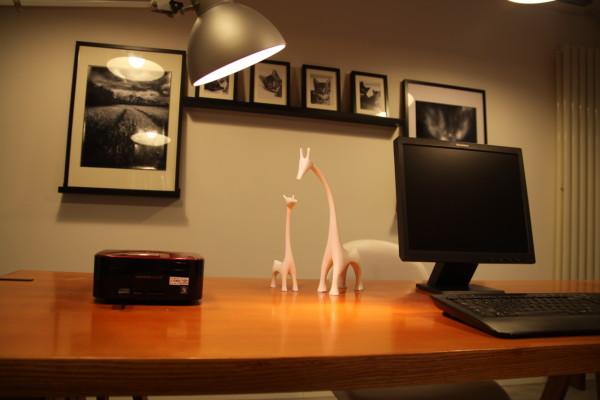 业风格水泥地面复古红砖家居设计设计工作室蝶影设计个性设计书房高清图片