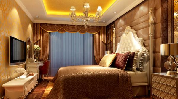 置地广场-124平米-简欧风格-卧室装修效果图