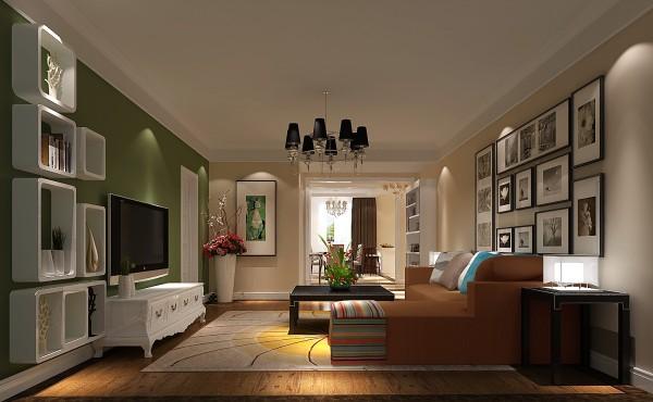 打破传统繁荣的设计方式,将三居改为两居两厅两卫,整体颜色运用较为大胆