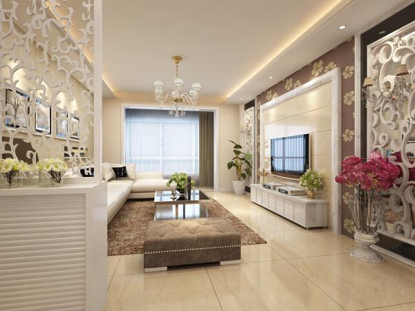 客厅是现代风格的代表作,整体简洁明快而不失华贵大气,电视背景墙以刷白的木线条勾勒出轮廓,中间贴的大理石和外侧的壁纸交相呼应,两侧再加上黑玻和镂空板,华贵而大气,增强生活情趣。
