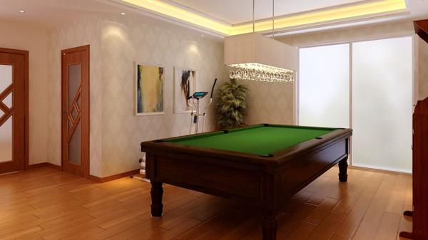 欧式元素只是点缀,现代手法比例较大,中性稍显保守的 浅色墙面与地面砖的色调配比主深色家具