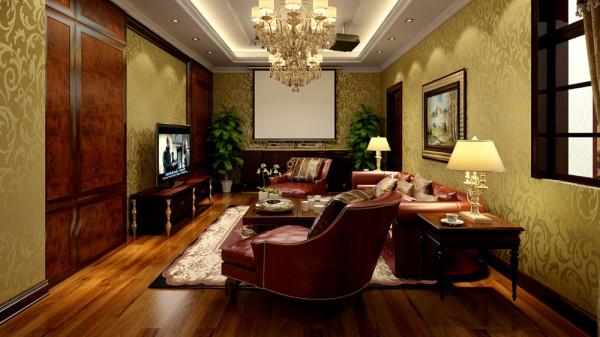 优雅的电视背景墙配合餐厅雕花圆盘的细腻,加 上富有层次的吊顶造型设计,以及具有动感的整体装饰线条,整个空间 效果大气而又不失华丽。