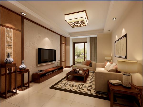 保留中式的韵味外,还加了大理石、玻璃、灯带、等现代材料,使空间又包含了现代生活气息