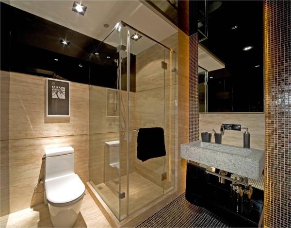 卫生间设计原则:安全舒适第一,材料选择注意防水、防滑、防潮。