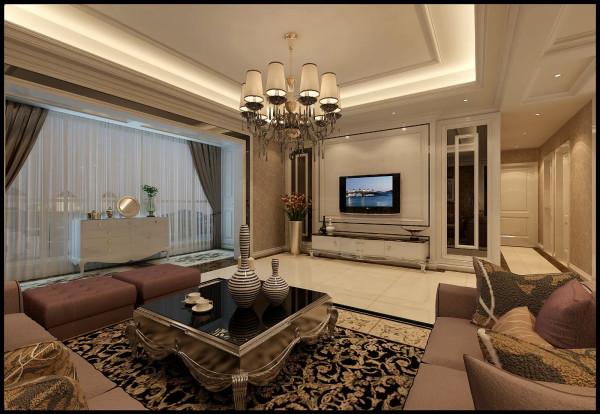 武汉实创 纯水岸东湖 三居 简欧风格 白领 客厅图片来自静夜思在19万图片