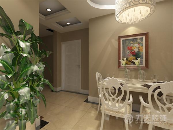 客厅与餐厅是整个在一个空间的格局。客餐厅的位置通过沙发背景墙,电视背景墙,挂画等装饰,使整个家庭色调很精彩。