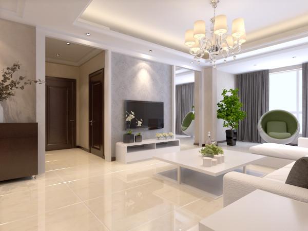 石家庄业之峰装饰-阿尔卡迪亚150平米三居室现代简约风格装修效果图