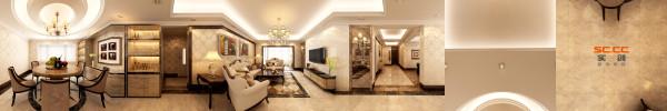 南城都汇138平米欧式风格客厅装修设计