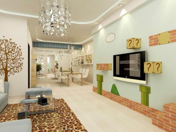 客厅,餐厅客厅设计以80后为主题,客厅餐厅过道在设计上主要有两个缺点要在设计中解决。空间很小我在又做了镜面的造型来使空间视觉上扩大。展现出简约大气的80后设计风格。